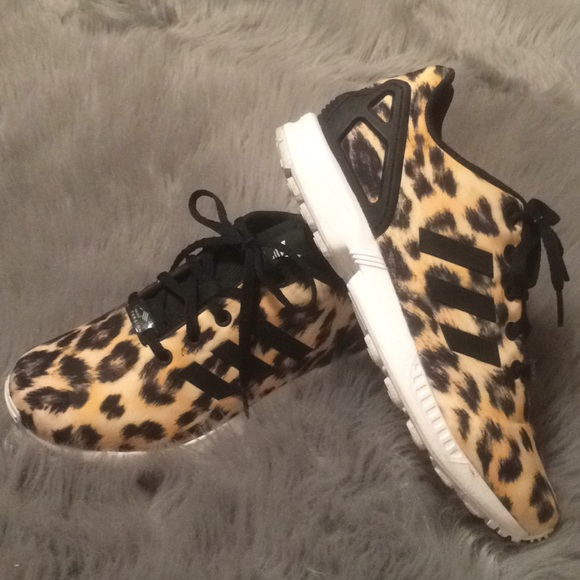 f8437cb15d80 adidas Shoes - Adidas Cheetah Print ZX Flux Shoes